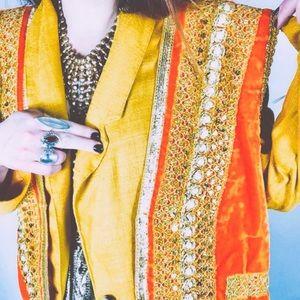 BEAUT || embellished vest & oversized blazer set